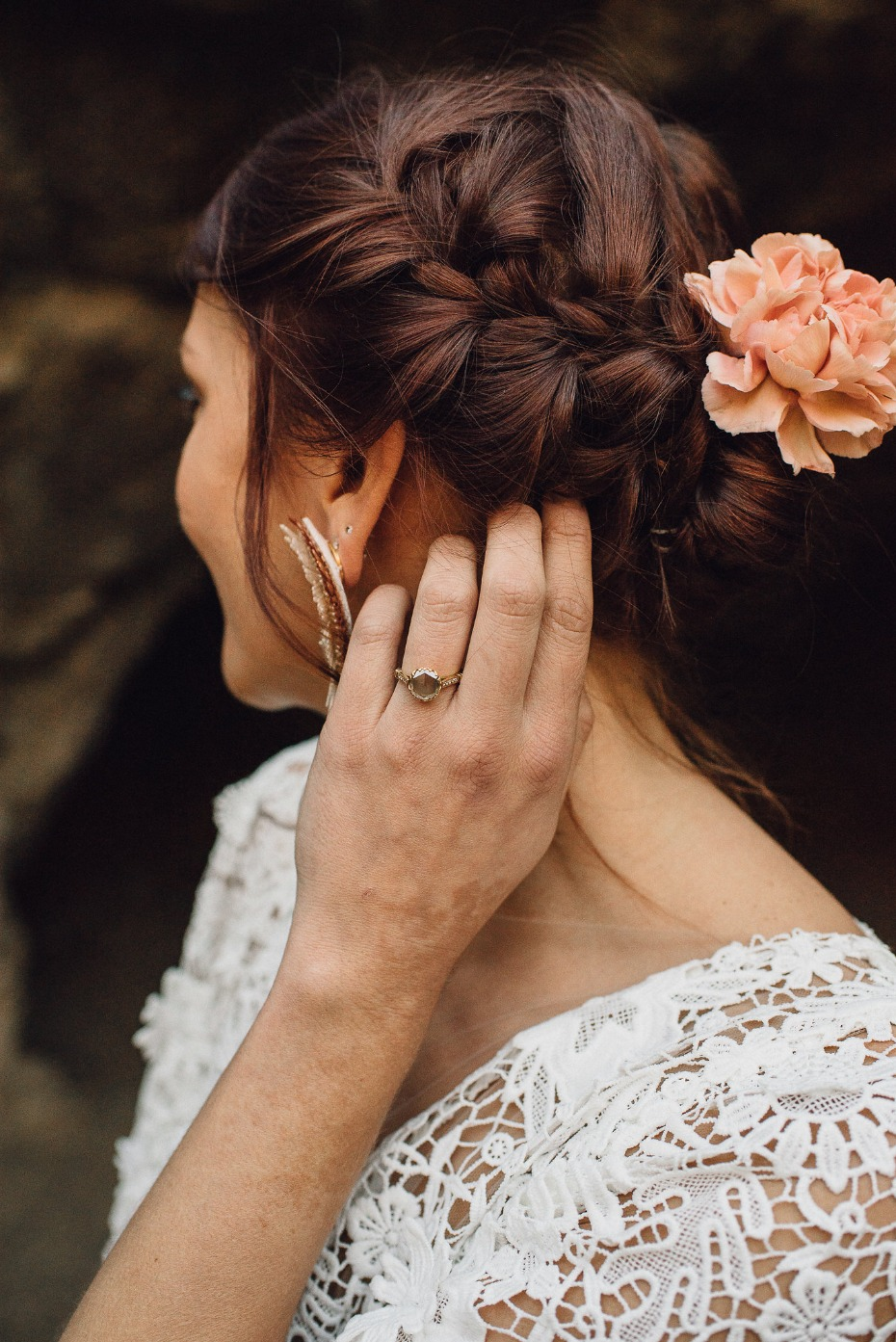 Bohemian bride wedding hair