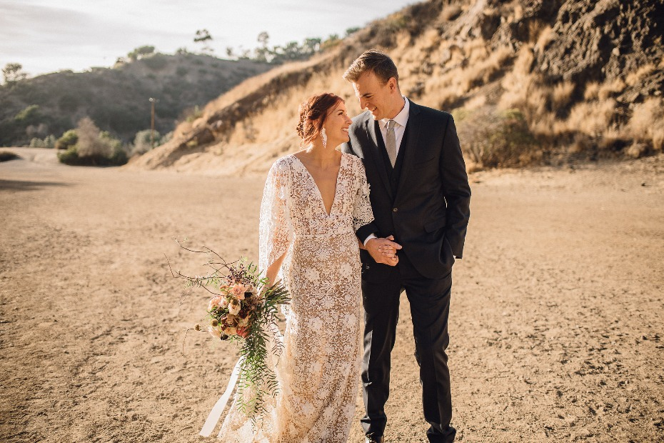 Relaxed bohemian wedding ideas in Hollywood