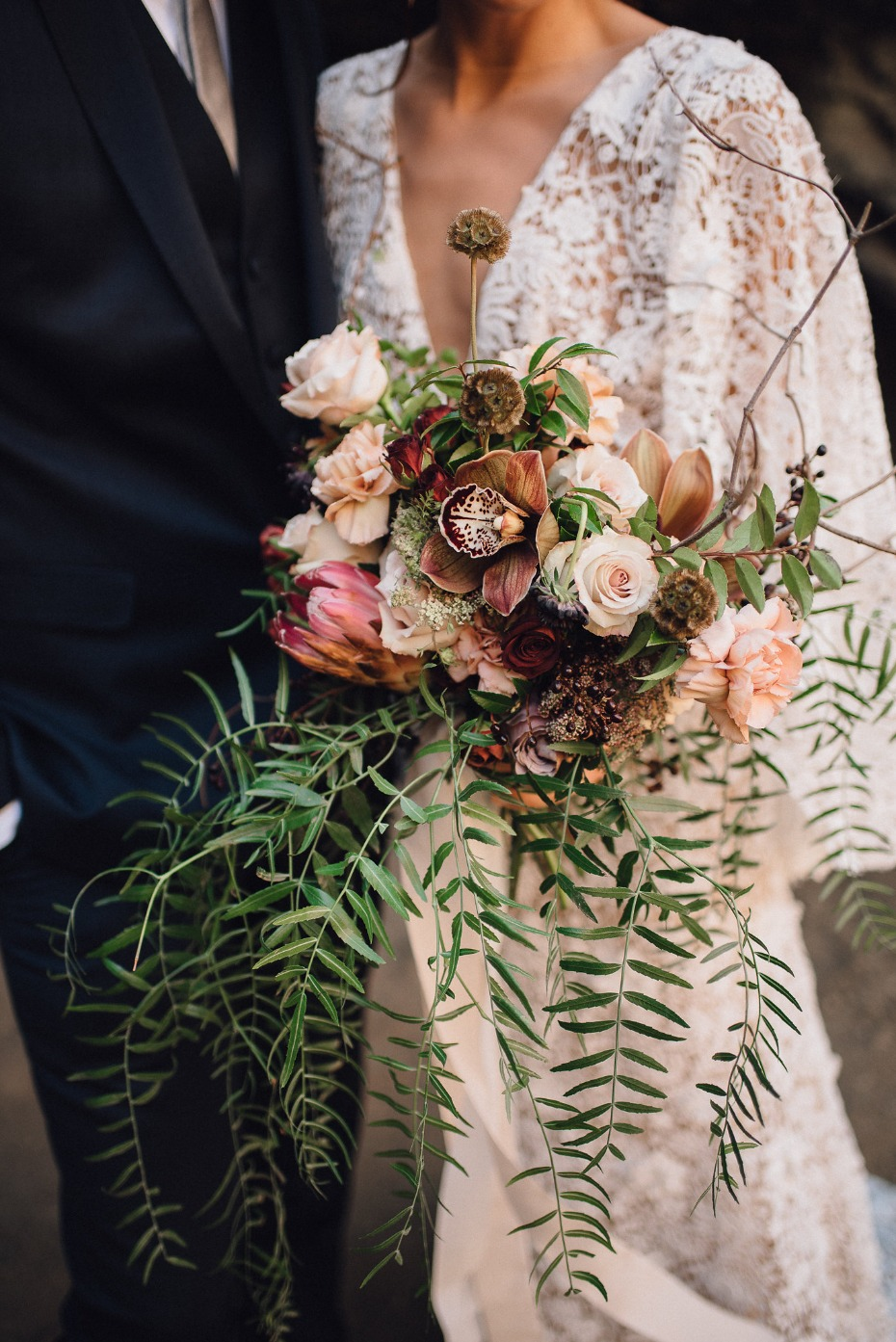 Gorgeous muted colors bouquet