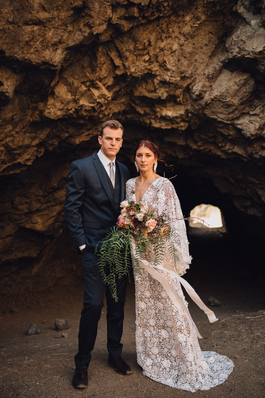Laid-back Hollywood Bohemian shoot at The Bronson Canyon Caves