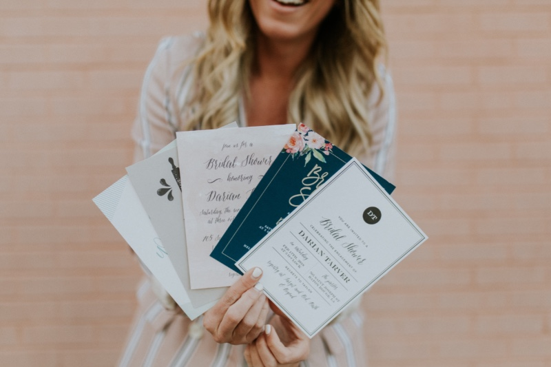 Pick a style, any style! And then choose from 180 custom colors to create the perfect bridal shower invitations for the bride-to-be