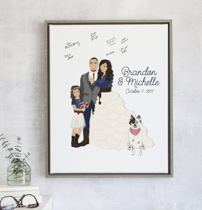 Come check out our NEW Family Portrait Guest Book Alternative!! This design comes with three portraits, and you can totally add on
