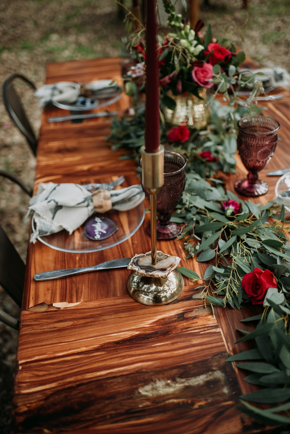 boho chic wedding table deocr