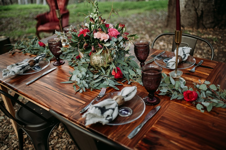 boho chic wedding table decor