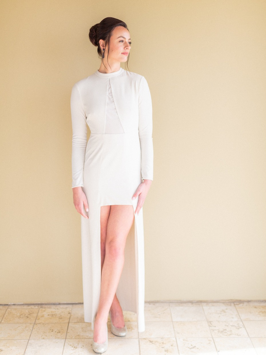 Modern wedding dress from Rent the Runway