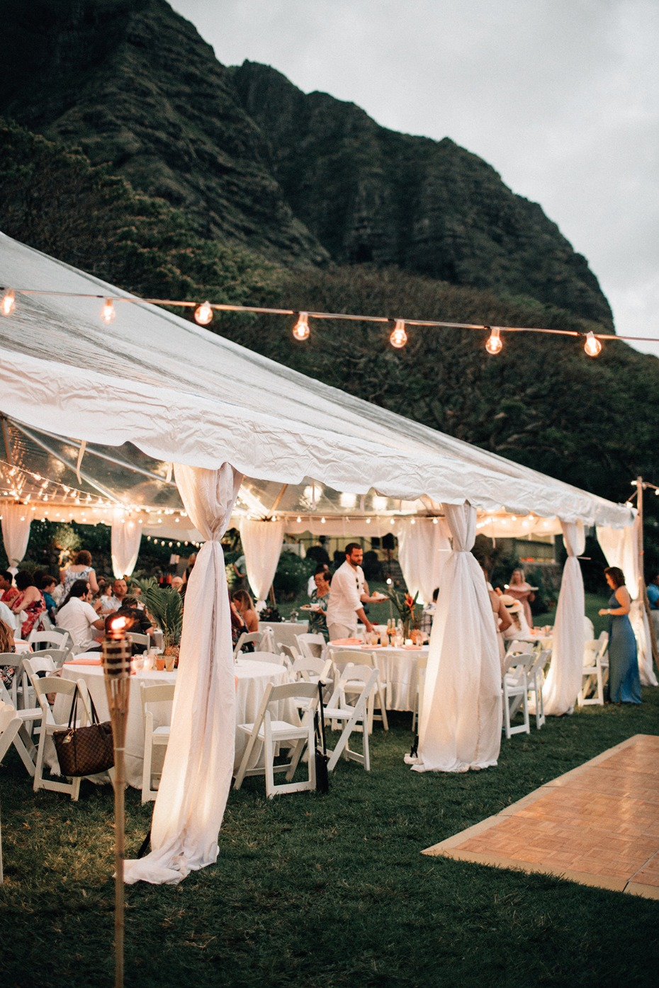 tented wedding in Hawaii