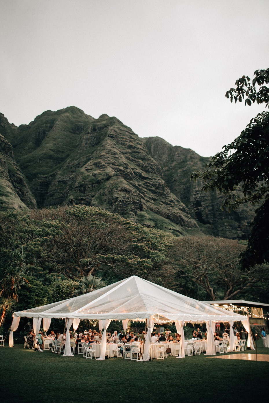 tented wedding reception in Hawaii