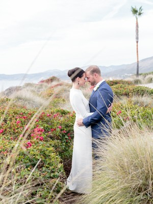 Rustic Contemporary Blue and White Wedding Inspiration by the Sea
