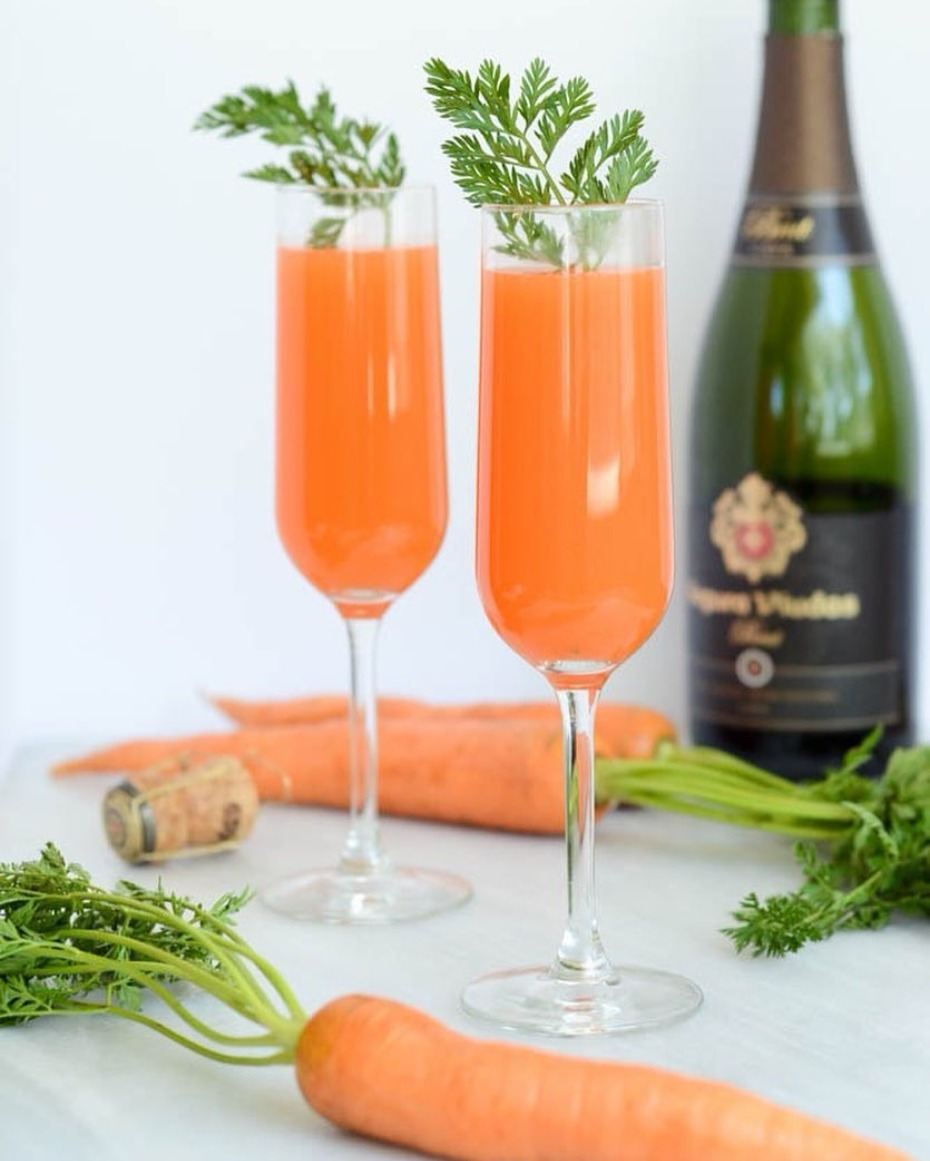 carrot and blood orange mimosas