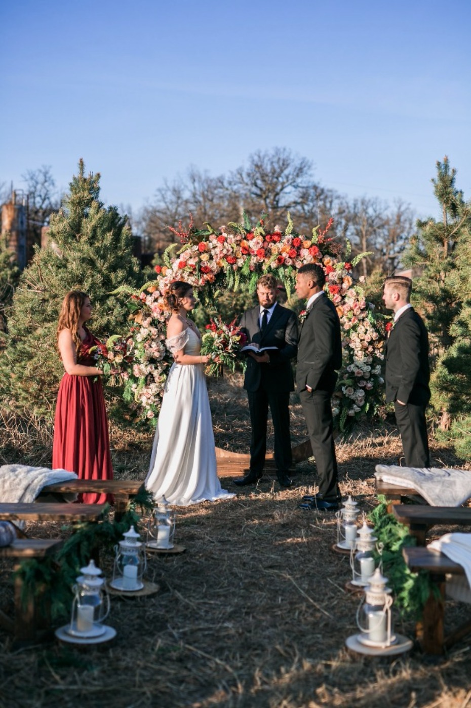 summer weddings are nice but this winter wedding is full of spice