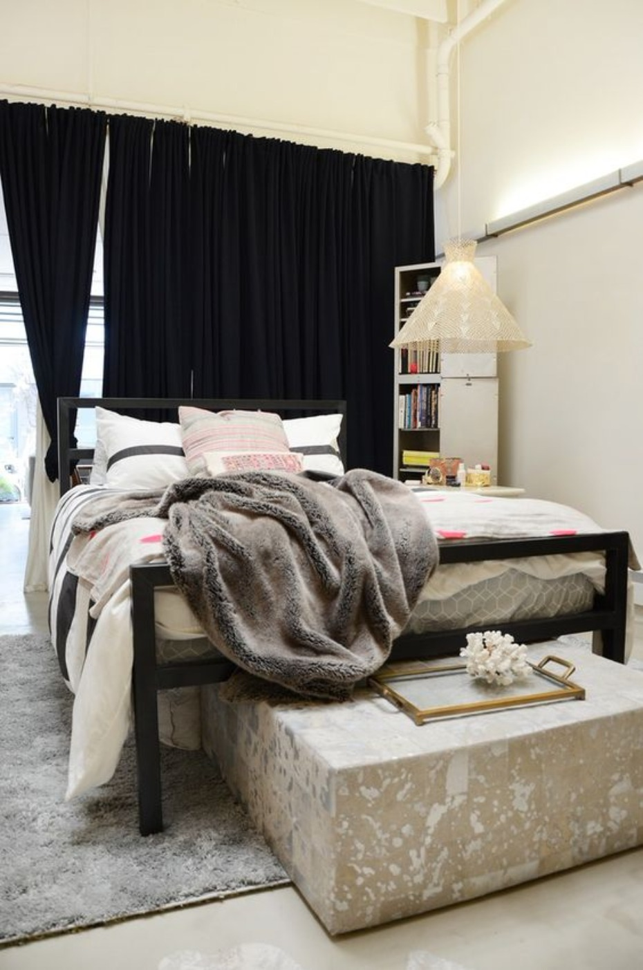 industrial chic bedroom idea