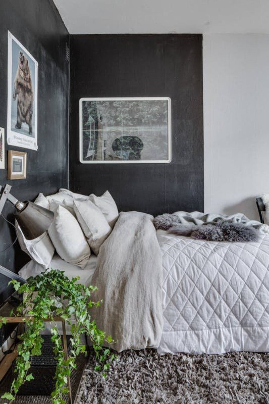 industrial modern bedroom idea