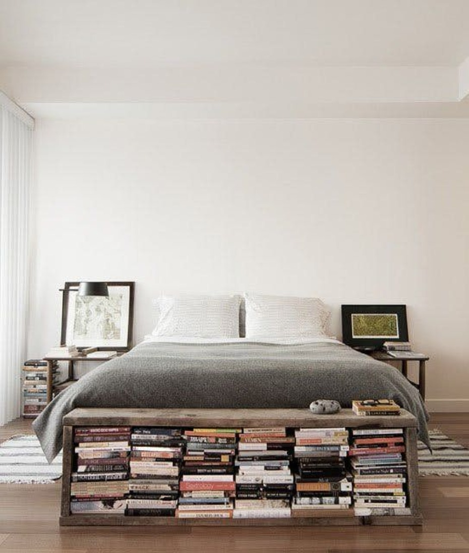 bookworm inspired bedroom idea