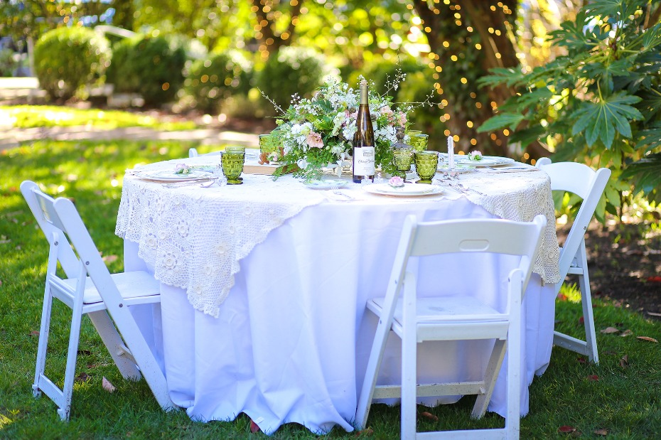 Garden reception inspired by Anne of Green Gables
