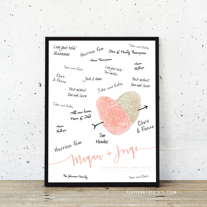 Add something truly unique to your wedding with a guest book alternative made with your own fingerprints!