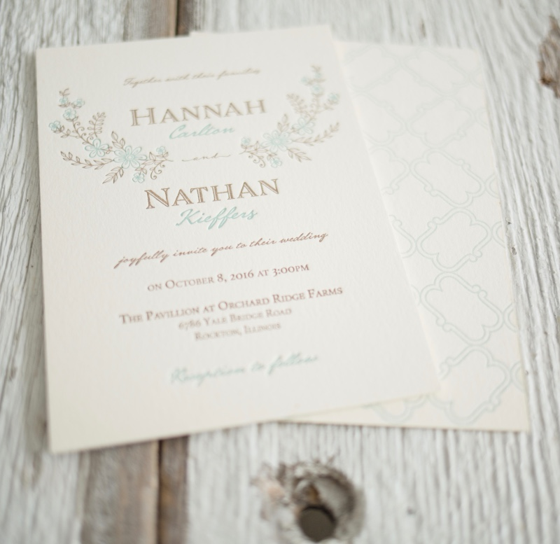 Our romantic, rustic floral wedding invitation suite. Available in flat digital or letterpress printing, by Lucky Invitations.