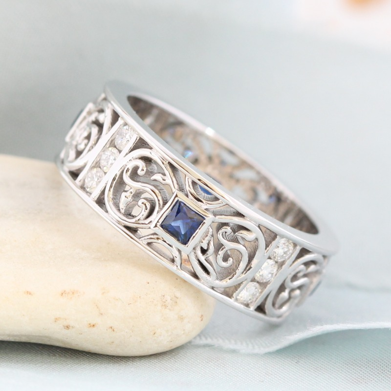 Unique men's wedding band designs sure to make you the gentleman in your life stand out on your special day ~ Shop now!