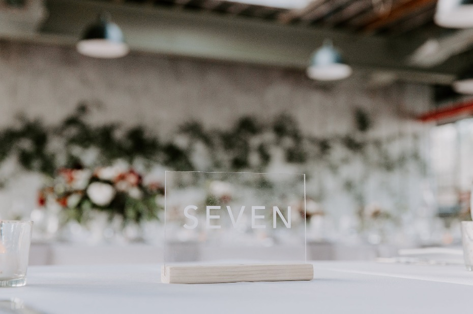 Modern table number design
