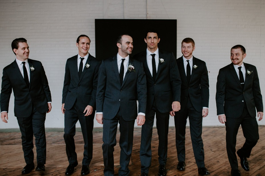 Stylish look for the groom and his men