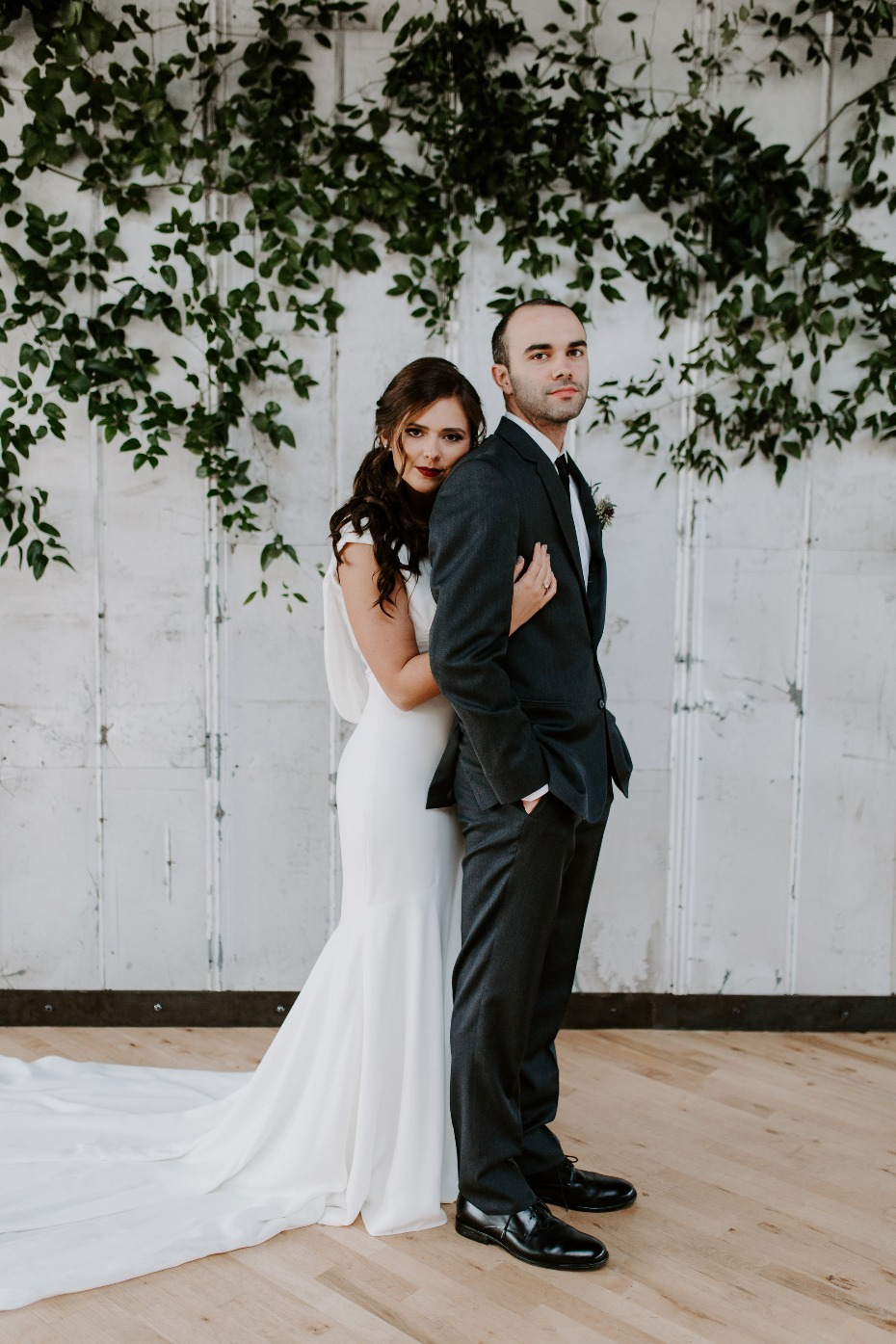 Beautiful modern industrial wedding