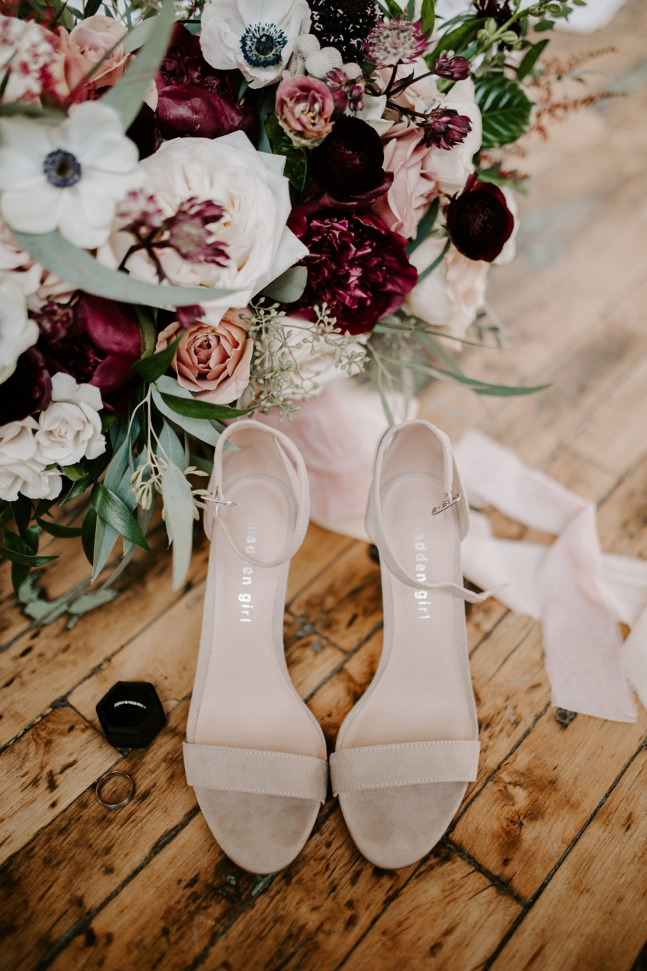 Beige wedding heels