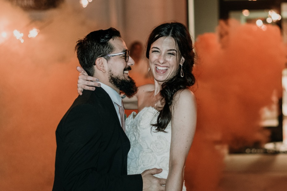 wedding exit smoke bomb idea