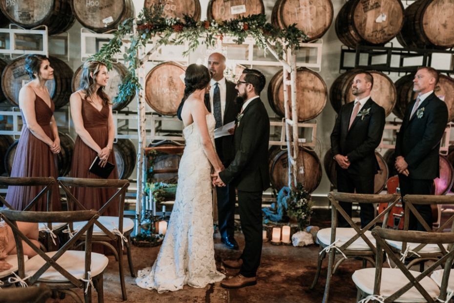 boho rustic chic wedding ceremony decor