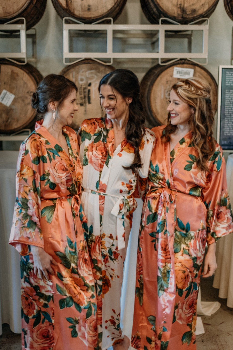 floral getting ready robes