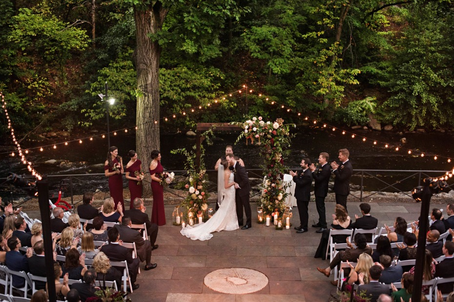 Romantic twinkle light reception