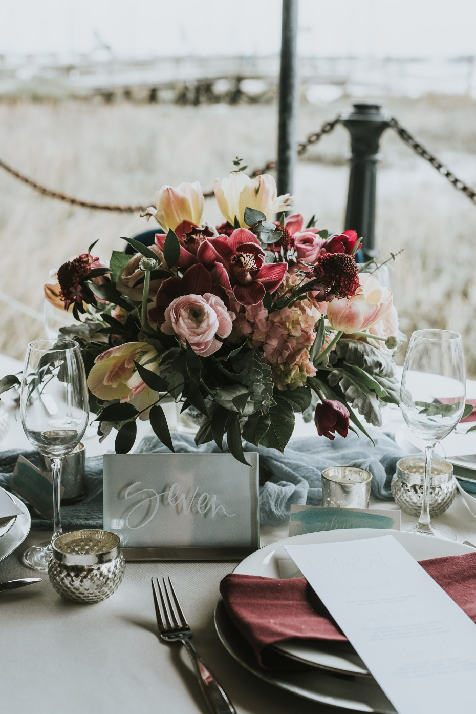 glam boho chic wedding table