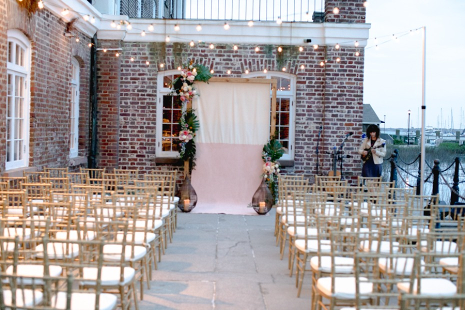 boho chic wedding ceremony decor