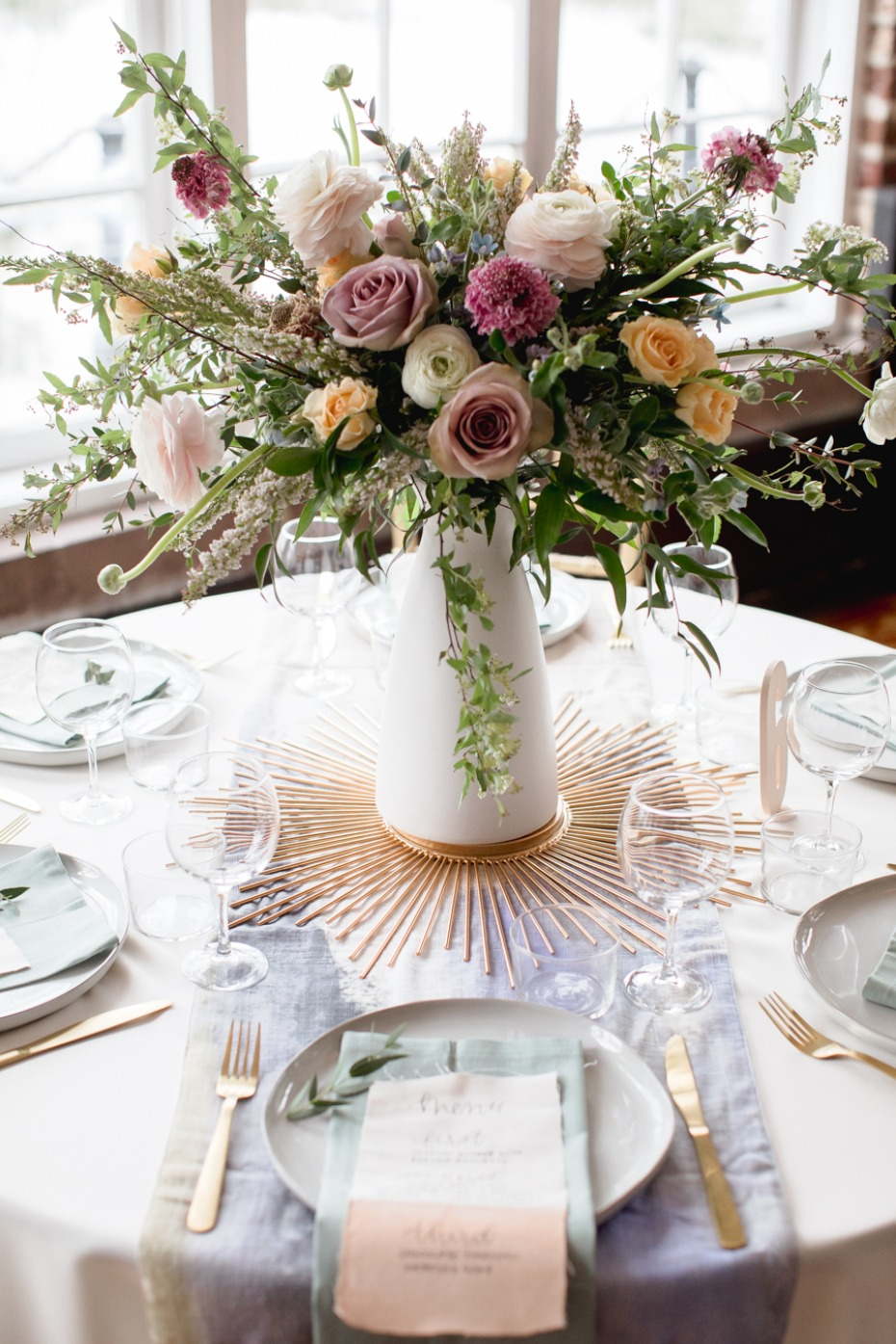 modern boho chic wedding table decor