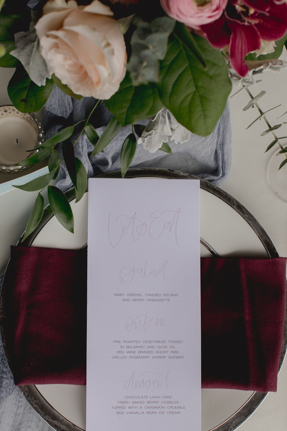 luxury wedding place setting