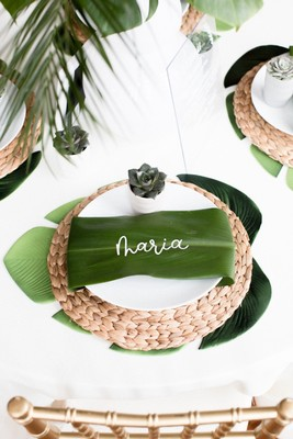 How To Have A Modern Tropical Boho Chic Wedding Day