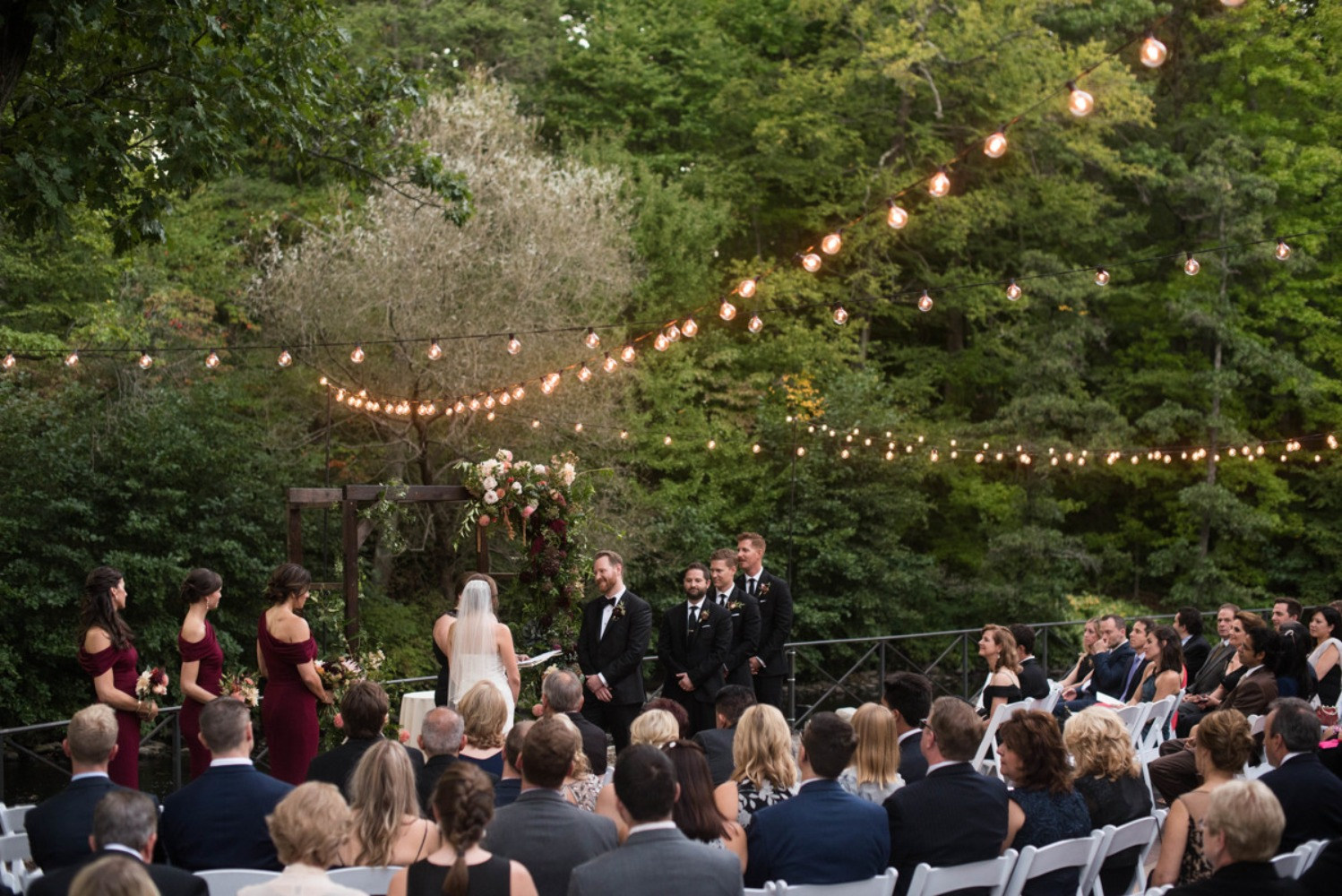 Gallery - Elegant Burgundy Wedding at The New York Botanical Garden