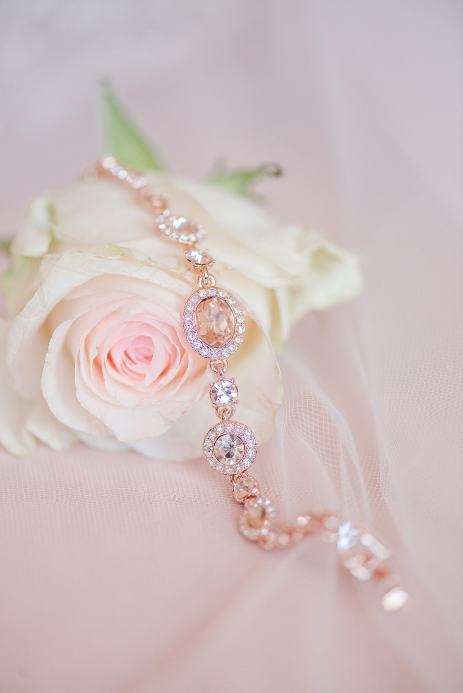 rose gold and diamond bracelet