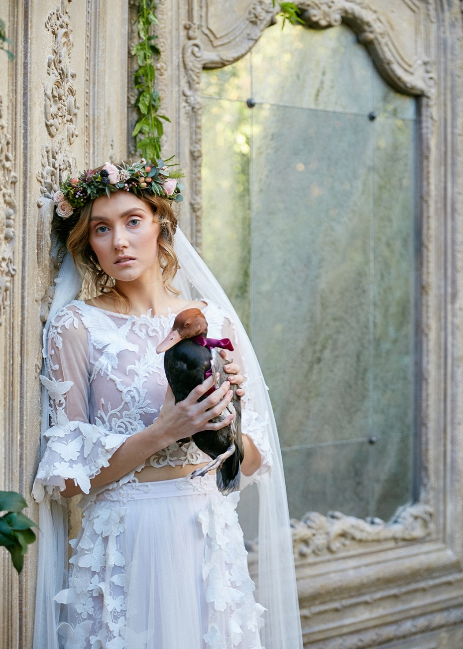 A bride and her duck
