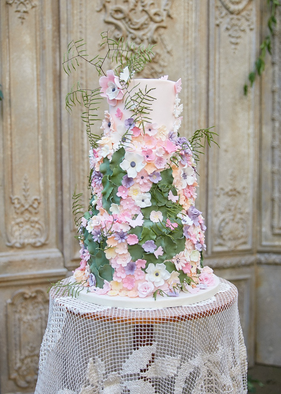 Spring wedding cake idea