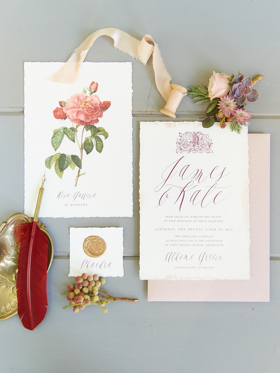 Nature inspired invitation suite