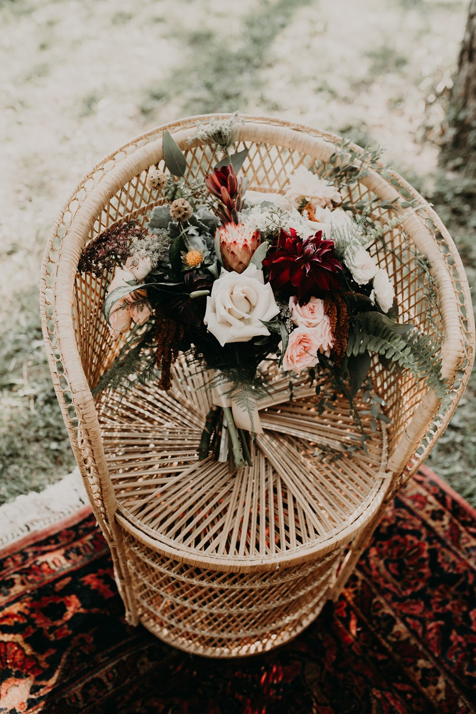 how to have the perfect fall jewel toned boho wedding