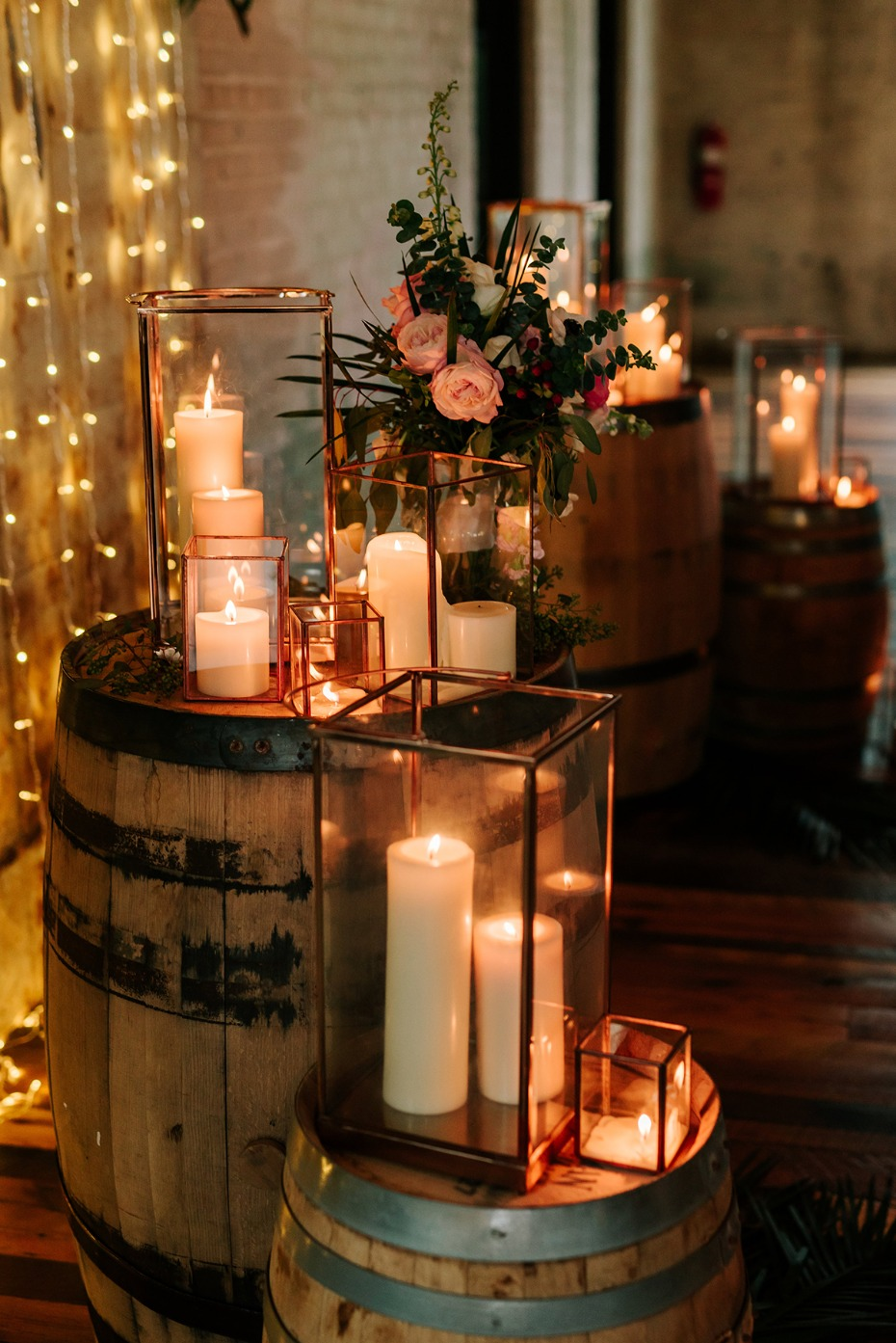 rustic chic candle lanterns