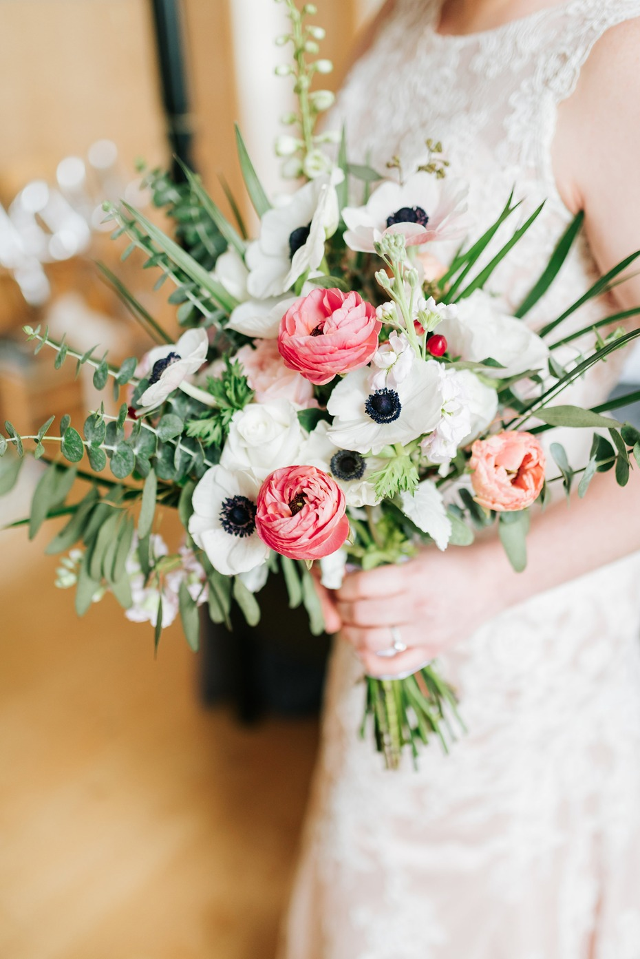 ranunculus and anemone wedding bouquet