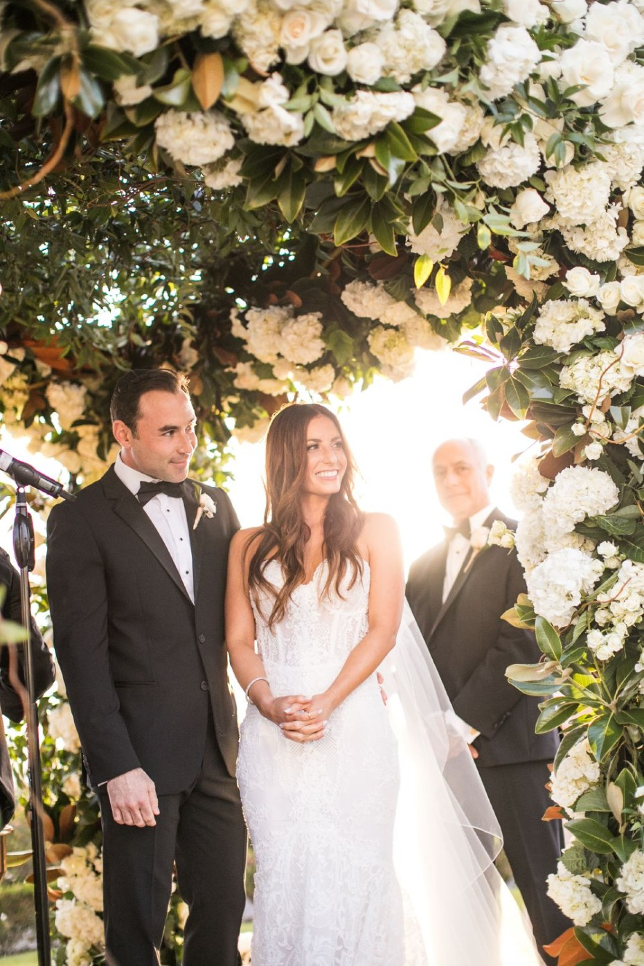 floral covered wedding chuppah
