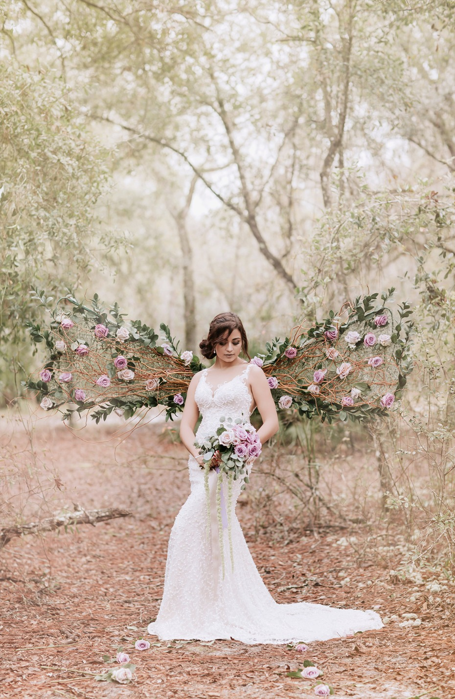 wedding floral wings