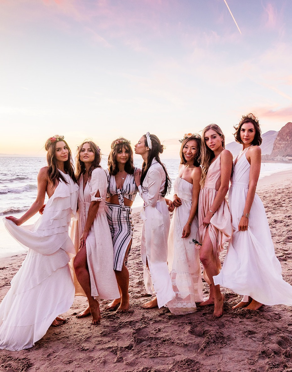 music fest themed beach bachelorette party