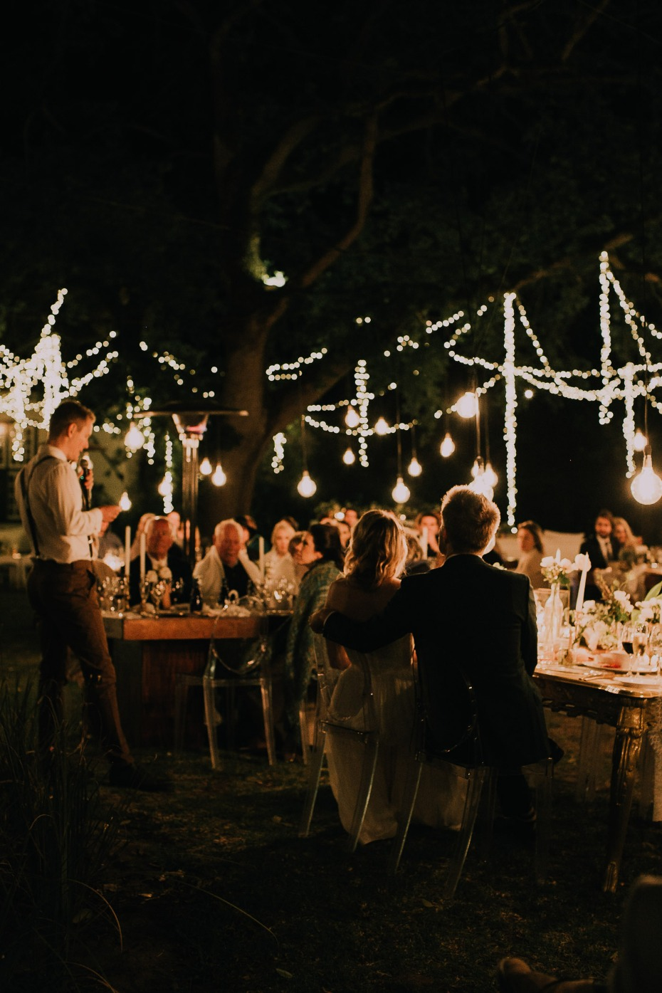 Nighttime reception lighting ideas