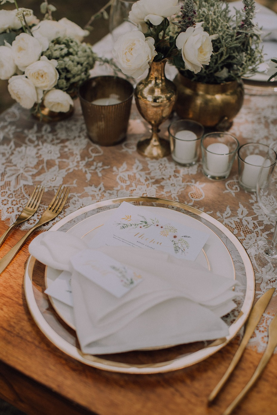 Chic boho place setting