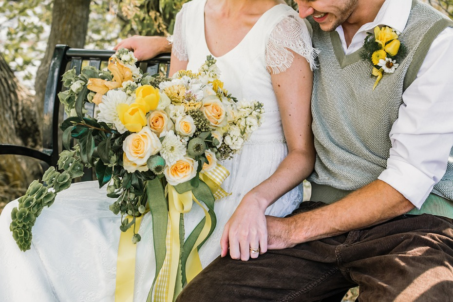 yellow and green vintage wedding ideas