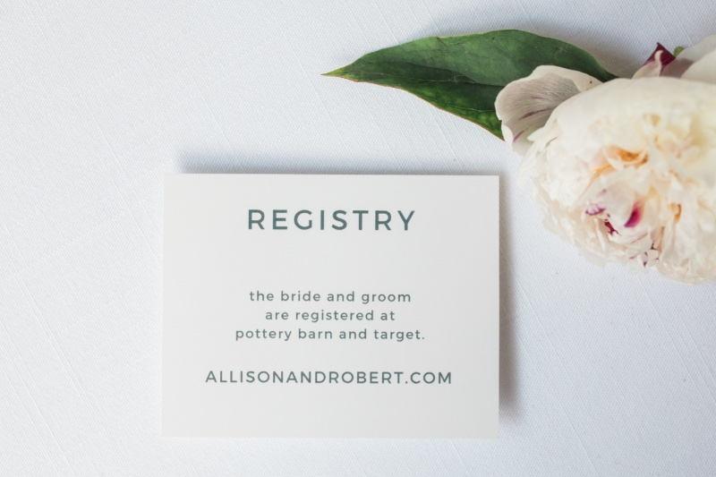 Each one of our 800+ wedding invitation designs comes with matching enclosure cards so you can create the ultimate wedding suite. Perfectly