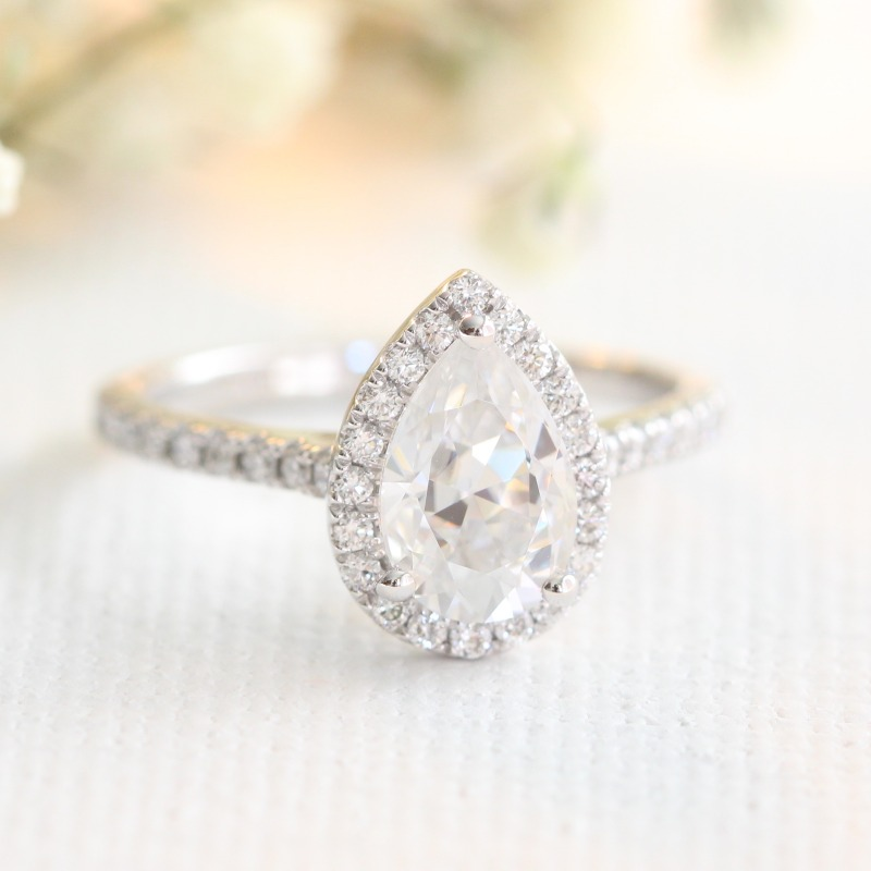 Propose with a ring handcrafted with love ~ Shop Moissanite Engagement Rings by visiting La More Design!